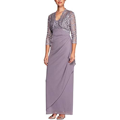 Alex Evenings Women's Empire Waist Bolero Jacket Dress (Petite and Regular Sizes) -Close Out, Pure Orchid, 6