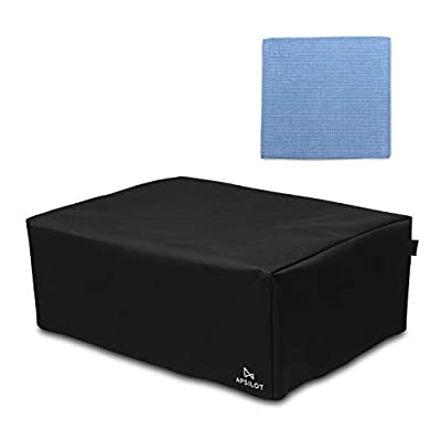 Apsilot DJ Turntable Dust Cover - Record Player Protector with 2 Finger Pull Tabs - Fits Technics SL1200, SL1210 and Pioneer PLX1000 - Black Premium Foldable Fabric - Complete with Microfibre Cloth