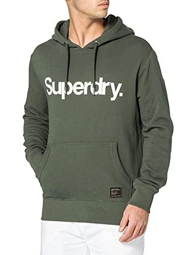 Superdry Mens Military Graphic UB Hood Hooded Sweatshirt, Ivy Green, L