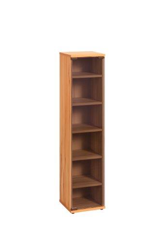 MAJA-Möbel 1882 5543 Medienregal, Kernbuche-Nachbildung, Abmessungen BxHxT: 25 x 110 x 24 cm