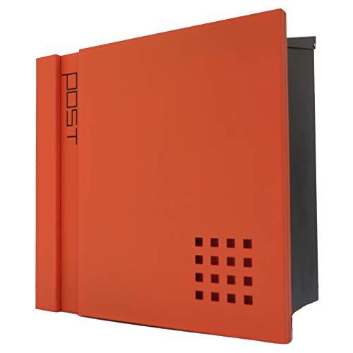 アイホーム(Ihome) 郵便ポスト pm46 pm468 オレンジ 本体: 奥行14.5cm 本体: 高さ36cm 本体: 幅36.5cm 高級キーホルダー1個、カギ2本、アンカープラグ4本、ネジ4本、ゴム栓4個