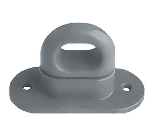 Drehverschluss für Ovalösen, Kunststoff, grau 42x22mm - MENGE wählbar, Menge:20 STÜCK