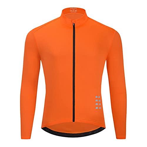 Chaleco de seguridad reflectante de alta visibilid Manga larga de ciclismo para hombre, camiseta para bicicletas de la montaña quick secamente transpirable Chalecos de seguridad para hombres mujeres