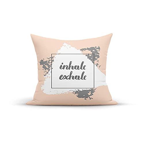 Funda de almohada decorativa vintage, 18 x 18 pulgadas, diseño suave de pincel motivacional, deportes y mensajes, fundas de almohada, fundas de cojín para interior y exterior, para sofá en casa, sofá,