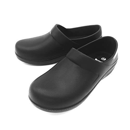 [キンタリ] コックシューズ 黒 耐油 防水 調理場靴 ワークマン 飲食店 靴 メンズ ブラック 26.0cm 黒43