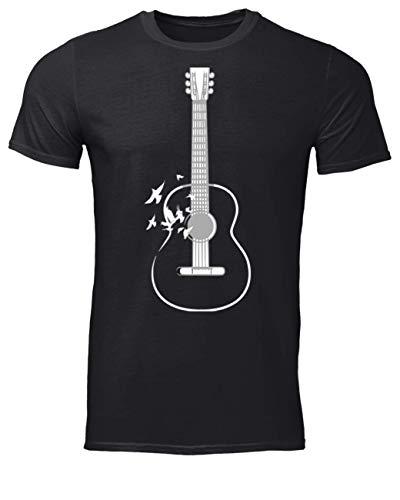 Vinsaco Guitarra y Aves Amantes Camiseta