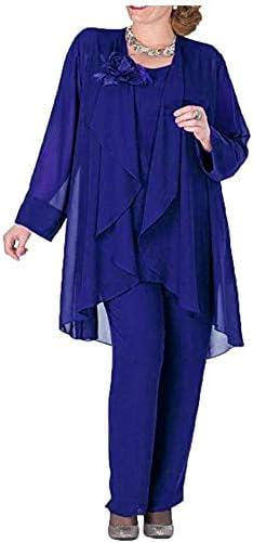 Royal blue pant suit plus size _image3
