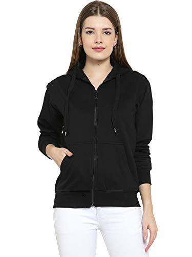 Scott International Women's Cotton Hooded Hoodie (1.1_lsshz9_M_Black_Medium)