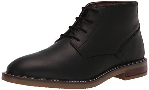 Clarks Men's Jaxen Mid Chukka Boot, Black Leather, 12
