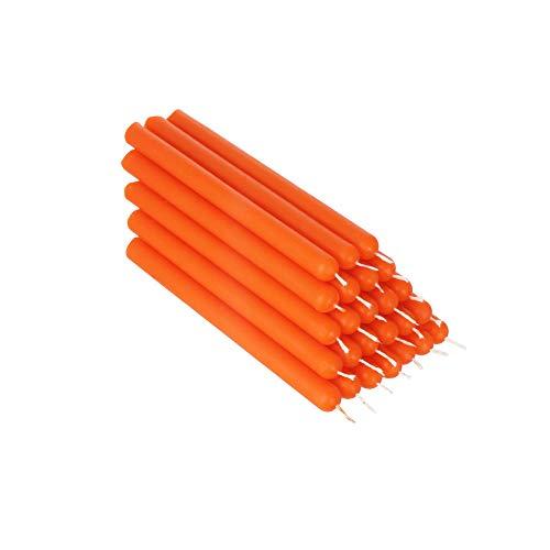 NKlaus 36344 - Vela de abeja (25 unidades, 12 cm, hecha a mano), color naranja