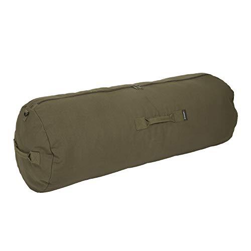 Deluxe Duffel Bag w/Zipper, Olive Green - 42'X15'X15'