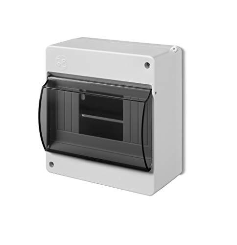 Kleinverteiler IP30 Aufputz Sicherungskasten 1-Reihig für 6 Module Feuchtraum Verteilerkasten Unterverteilung