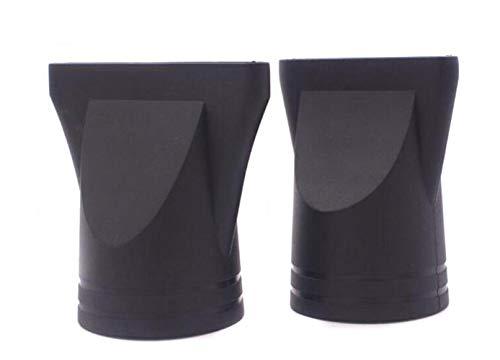 2 boquillas de repuesto para secador de pelo, plástico negro, especial, no universal, extremo plano, para diámetro exterior 4,2 – 4,6 cm