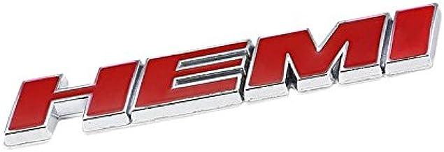 2pcs Red HEMI Emblem Decal Badge Sticker Fit For Dodge Car Model