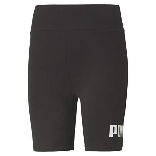 Puma Damen ESS 7` Logo Short Tights Leggings, Black, S