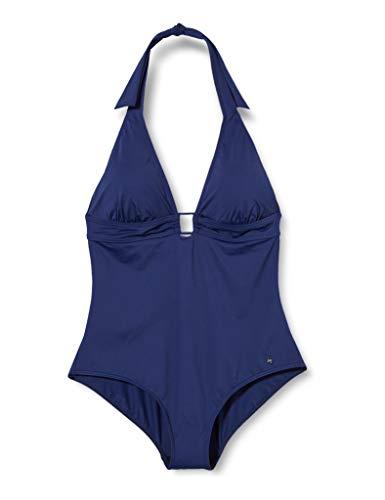 s.Oliver RED LABEL Beachwear LM Damen Sand Badeanzug, Marine, 38 A/B