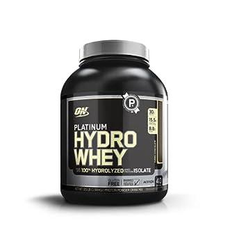 Optimum Nutrition Platinum Hydrowhey Protein Powder 100% Hydrolyzed Whey Protein Isolate Powder Flavor  Turbo Chocolate 3.5 Pounds