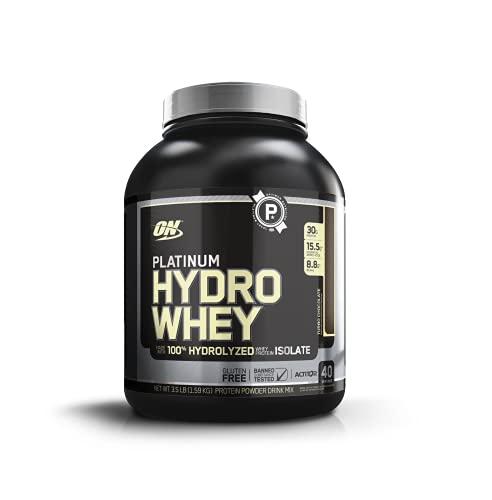 Optimum Nutrition Platinum Hydrowhey Protein Powder, 100% Hydrolyzed Whey Protein Isolate Powder,...