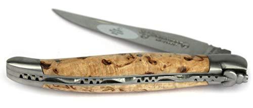 LAGUIOLE en Aubrac Taschenmesser L0212BHIF 12 cm, Klinge 10 cm matt, Backen matt, Griffschalen Birkenholz