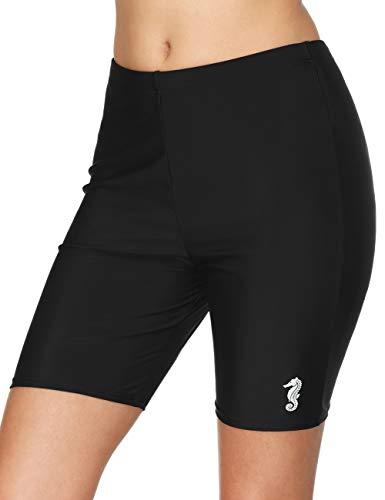 CharmLeaks Women Tummy Control Swim Shorts Long Swimsuit Jammers Spandex Bike Shorts XL