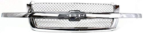 Garage-Pro Grille Assembly Compatible with CHEVROLET AVALANCHE 2003-2006/SILVERADO 2003-2006 Mesh Chrome with Cntr Bar Base/LS/LT Includes 2007 Classic