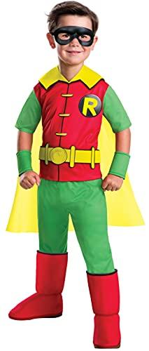 Rubie's Costume Boys DC Comics Deluxe Robin Costume, Small, Multicolor, Model:630880
