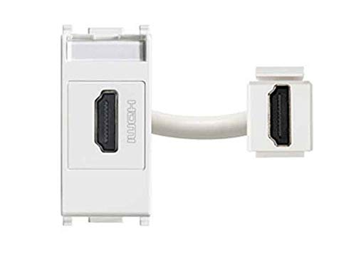 Vimar 14346 Plana Presa standard HDMI, aggancio standard Keystone, grigio 14346