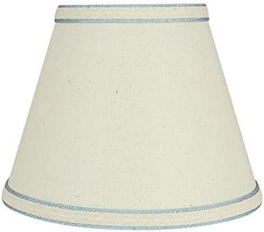 Aspen Creative White 58909 Transitional Hardback Empire Shape UNO Construction Lamp Shade 9 product image