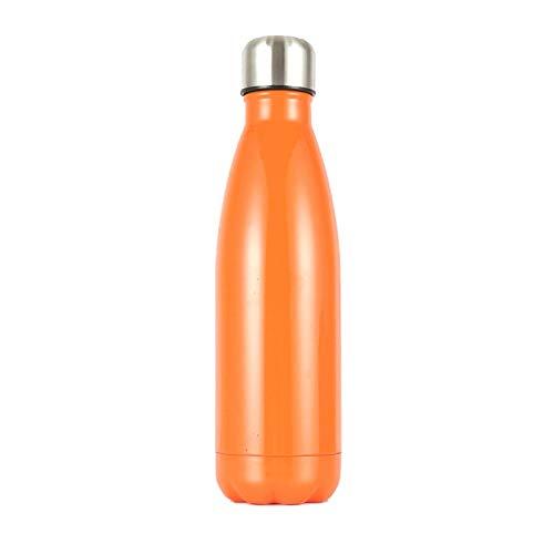 yywl Botella de viaje de 500 ml, monocolor, botella de acero inoxidable, doble pared, termo al vacío