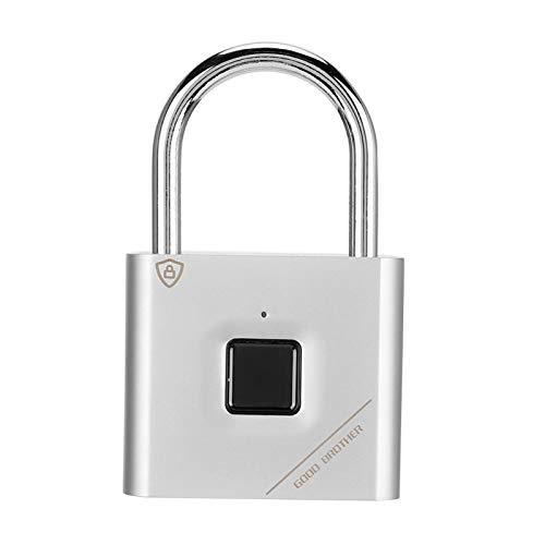 Cerradura de puerta sin llave recargable USB Candado inteligente inteligente Candado de huellas dactilares para gimnasio Cerraduras para casilleros escolares para maletas