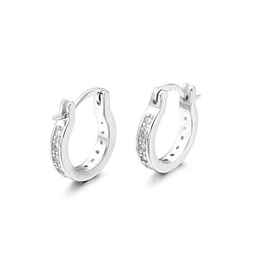 KnSam Pendientes de plata 925, pendientes de mujer de oro rosa, aros de plata 925, pendientes simples para mujer de plata