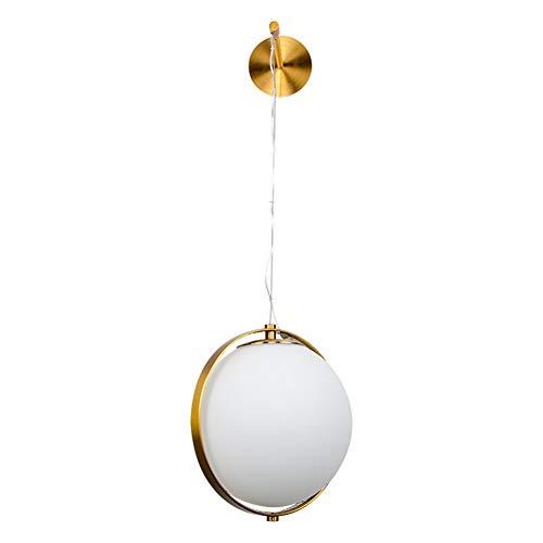 PElight Creatieve metalen bol glazen wandlamp Moderne minimalistische creatieve LED wandlamp, woonkamer, hal, eetkamer, bed (koper)