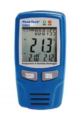 PeakTech 5180 Temperatur- und Luftfeuchtigkeits-Datenlogger -40.+70°C, 0-100% RH