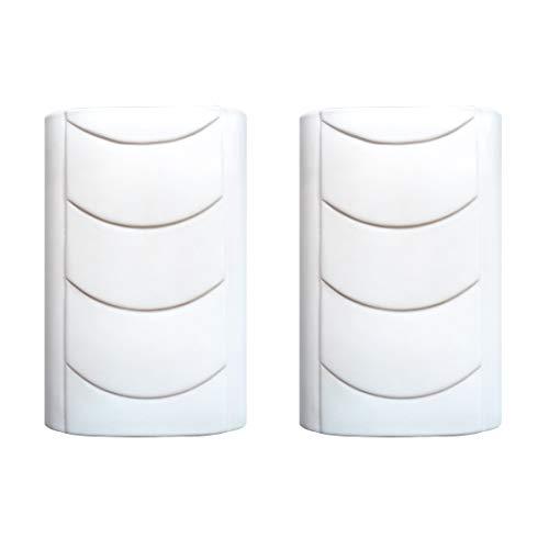 Luftbefeuchter 2-teiliges Set aus Keramik weiß flach zur Befestigung am Heizkörper Heizung Wasserverdunster Diffuser a1668