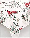 Lenox Butterfly Meadow Poinsettia 102' Oblong Tablecloth