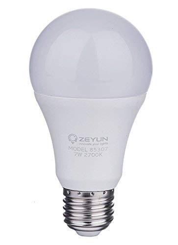 ZEYUN 12W LED ampoule de capteur de lumière du jour, vis E27, crépuscule automatique à l'aube capteur LED ampoule, Auto ON / OFF, lumière blanche chaude 2700k
