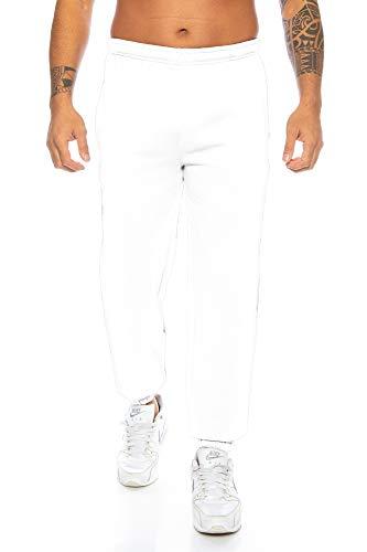 Raff & Taff Herren Hose M bis 6XL   Sporthose Sweatpants Pyjamas Übergrößen Funktionshose Trainingshose Jogginghose   Premium Baumwolle (Weiß, 5XL)