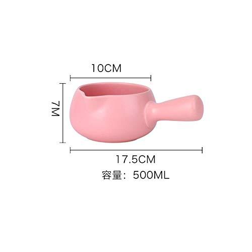 Pentola Smaltata Lattina Per Latte Smaltato Piccolo Porridge Di Latte Caldo Casseruola @ Rosa 500Ml (Inviare Stuoia Di Pentola)