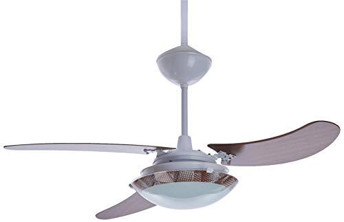 Venti-Delta Ventilador de Teto Ventus 3 Pás Padrão Mogno 127 V C3V, 423100, 130 W, Branco