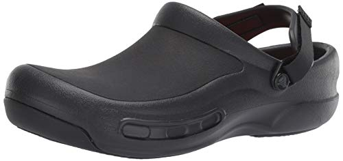 Crocs Men's and Women's Bistro Pro LiteRide Clog | Work Shoes, Black, 15 Women / 13 Men