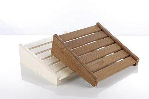 Eliga Kopfstütze oder Fußstütze aus Holz natur verleimt für Sauna