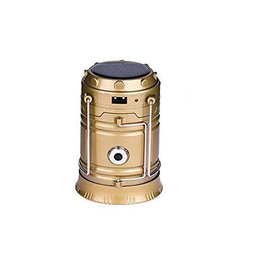 LHZTZKA Lanternes de Camping, Lampe Rechargeable Pliable d'USD LED avec la Tente de pêche de Banque de Puissance et l'urgence extérieure-Gold