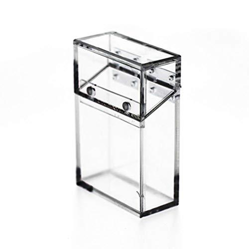 Suszian Zigarettenetui, Acryl Transparentes Zigarettenetui Dickes tragbares Feuerzeug Paket Aufbewahrungsbox Zigarettenetui