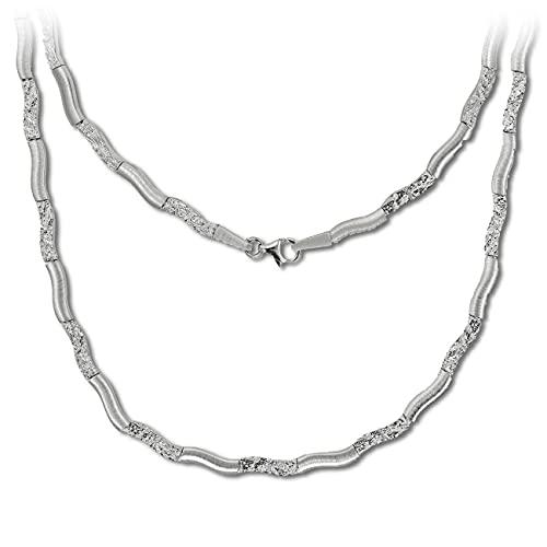 SilberDream Collar Wave de plata de 45 cm de plata de ley 925 SDK4792O