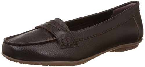 Hush Puppies Women's Ceil Penny Brown Leather Loafers and Mocassins - 6 UK/India (39 EU)(5544942)