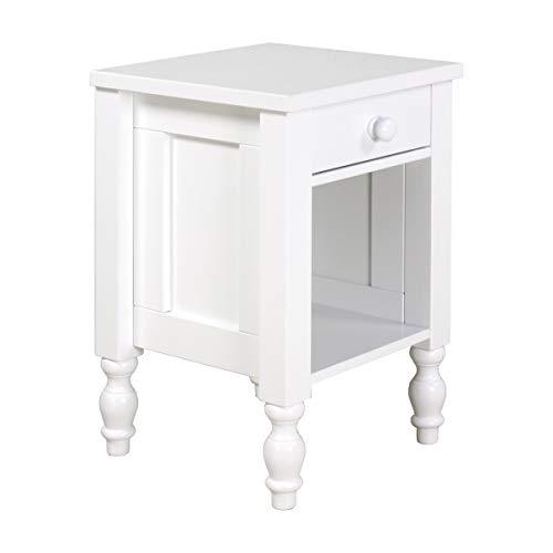 Bopita Nachttisch, Wood, Weiß, One Size