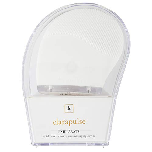 Dermaclara Clarapulse Silicone Facial Cleansing Brush & Sonic Massager - Vibrating Exfoliating Tool