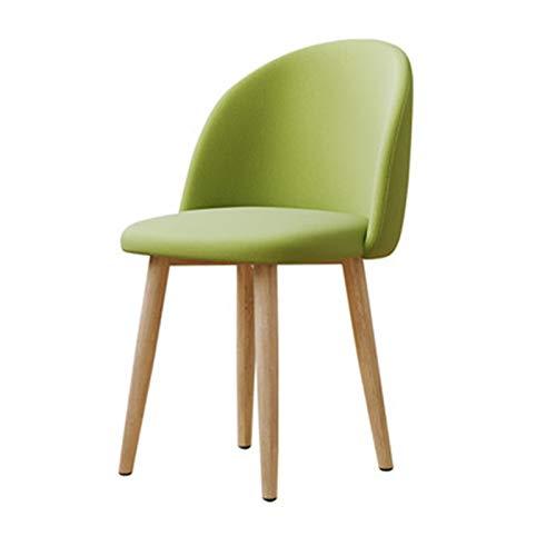 Maquillaje Silla Chica Simple Home Girl Dormitorio Lindo Vestido Taburete Respaldo Nórdico Silla de Comedor Taburete Vanity Chair (Color : Verde, Size : 47x44x77cm)