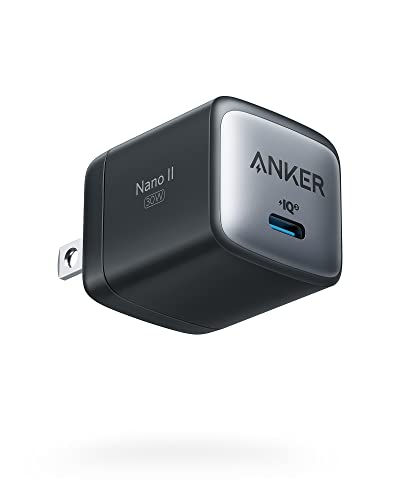 USB C Charger, Anker Nano II 30W Fast Charger Adapter, GaN II Compact Charger (Not Foldable) for...