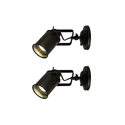 Jeffrien Vintage Industrial Ceiling Spotlight, Retro Minimalist Adjustable Track Lighting Fixture for Office Loft Hall Bedroom Restaurant Hotel Coffee Shop